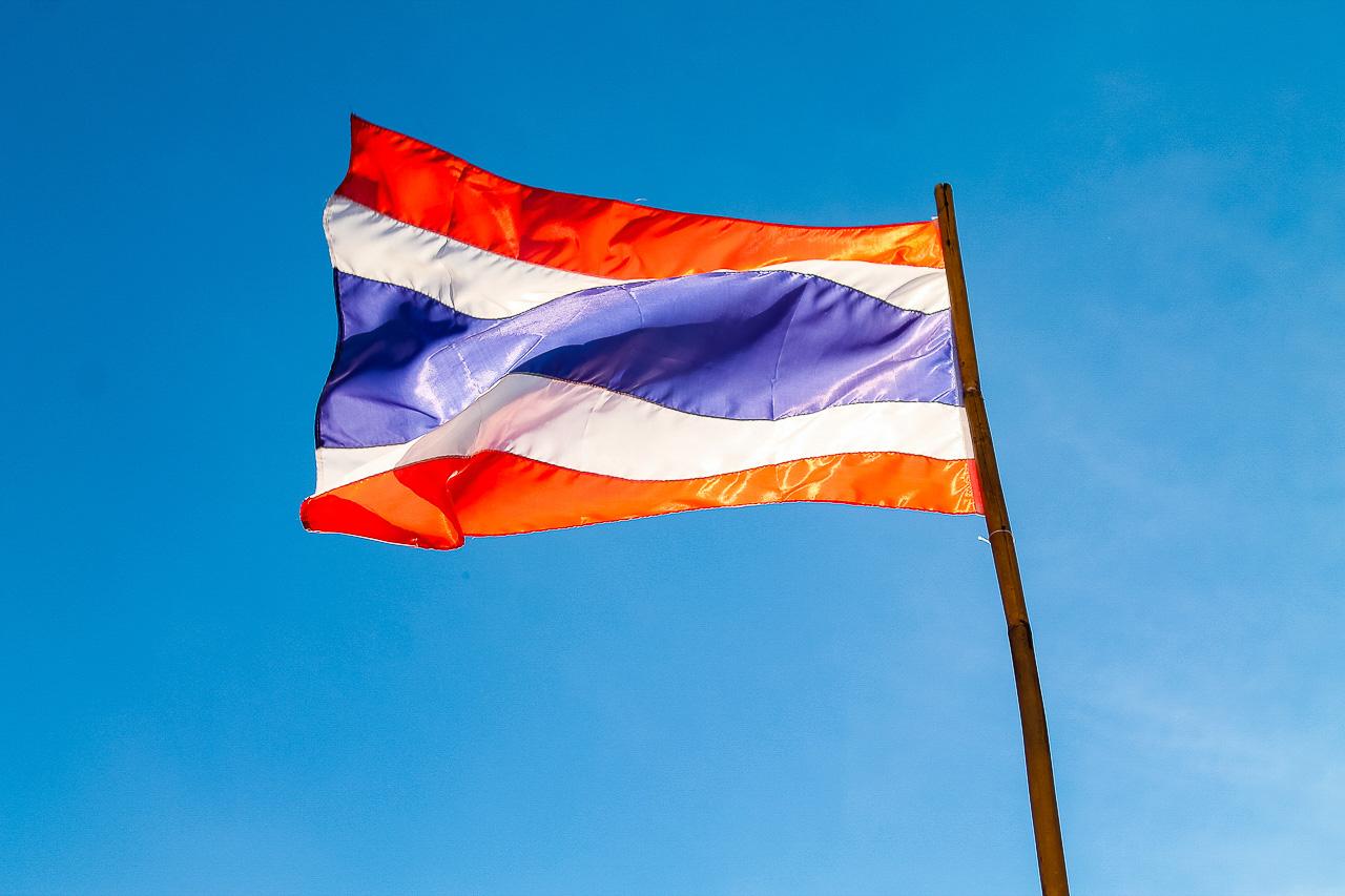 Bandeira da Tailândia simbolizando as notícias do país sobre as fronteiras