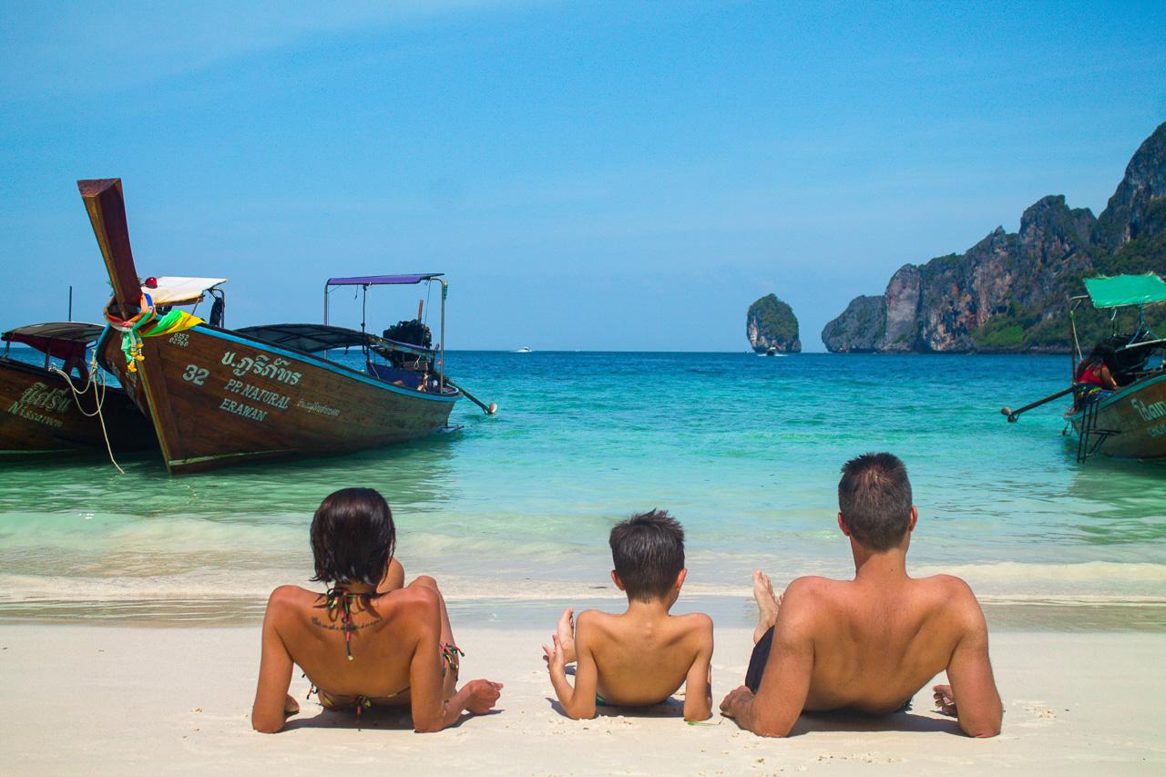 Passeio de barco de Phuket para Phi Phi, Tailândia