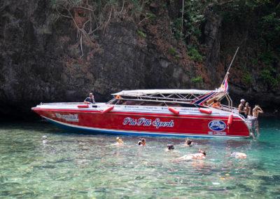 Lancha privativa para passeio em Phi Phi com grupo ou casal