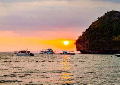 Pôr do sol em Phra Nang Beach, Railay | Melhor passeio de barco da Tailândia