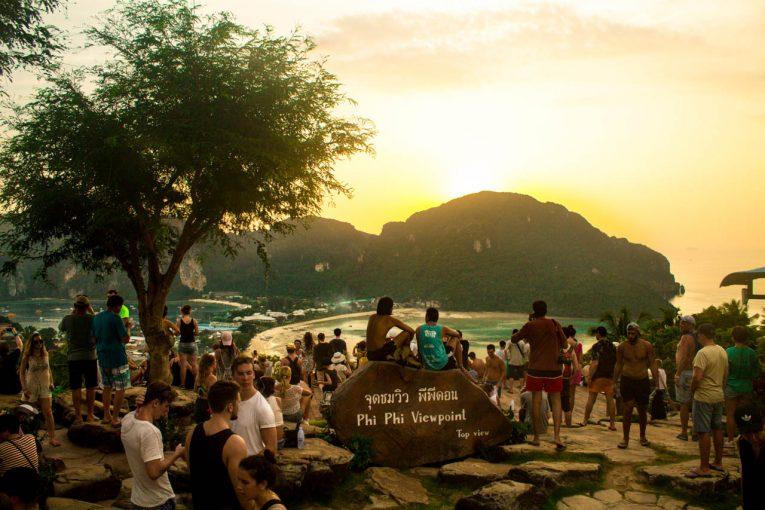 Roteiro em Phi Phi: sunset no viewpoint