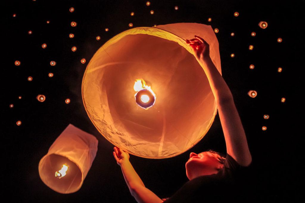 Festival das Lanternas em Chiang Mai na Tailândia.