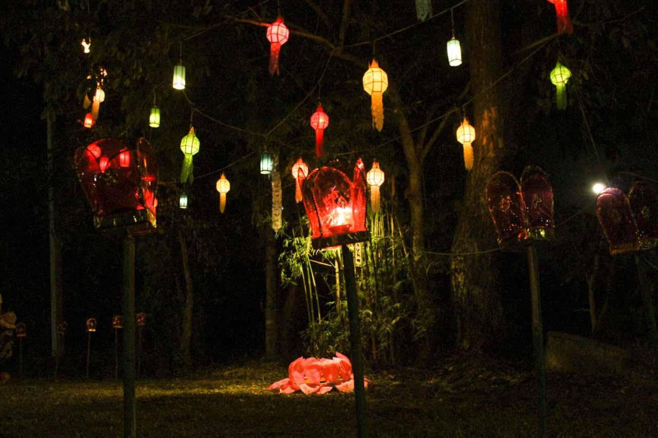 Decoração do Festival das Lanternas em Chiang Mai, Tailândia