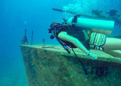 Curso de Mergulho em Koh Tao Tailândia - naufrágio Wreck Diving Koh Tao · HTMS Sattakut