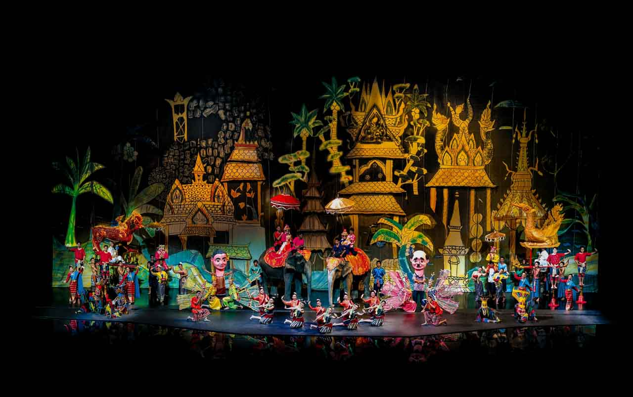 Show Cultural Siam Niramit - musical tailandês típico em Bangkok, Tailândia