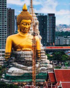 Wat Pakham: templo do Buda Dourado em Bangkok