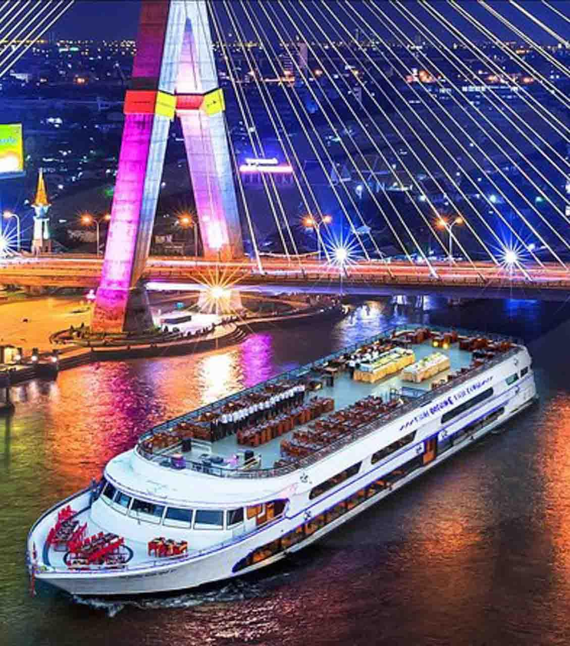 Cruzeiro com jantar em Bangkok - passeio noturno pela capital da Tailândia - onde jantar em Bangkok