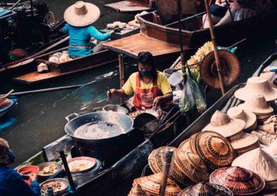 Passeio pelos mercados de Bangkok - Damnoen Saduak