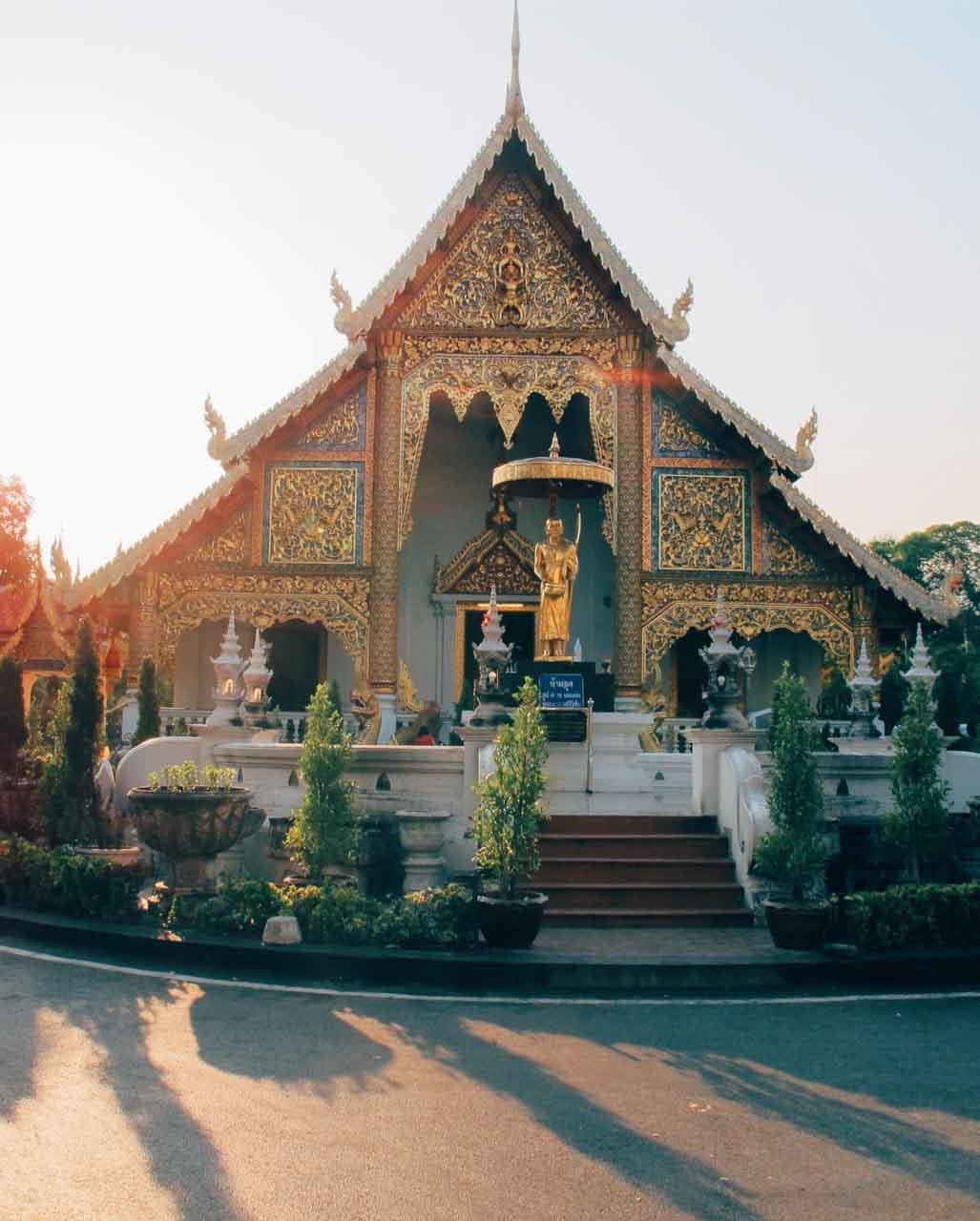 Passeios em Chiang Mai, Tailândia - templo budista na Tailândia