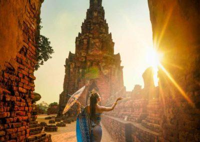 Templos maravilhosos de Ayutthaya