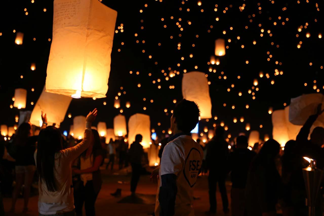 Lantern Festival em Chiang Mai Tailândia